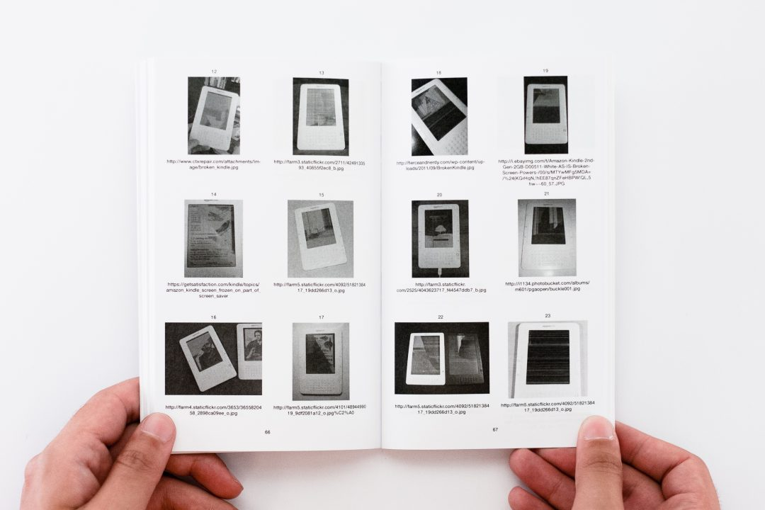 56 Broken Kindle Screens, Silvio Lorusso and Sebastian Schmieg, 2012