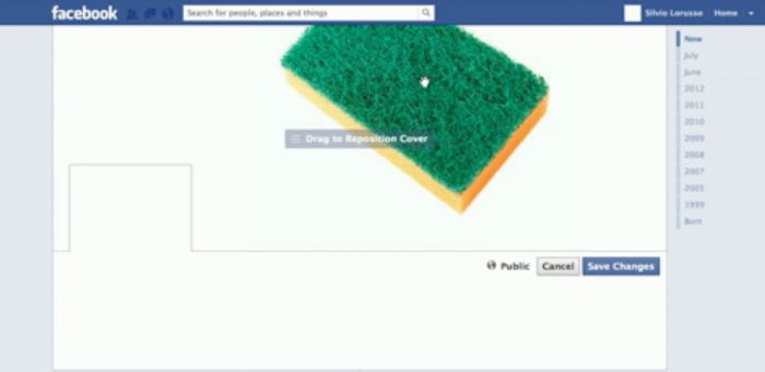 How to Keep Your Facebook Cover Clean, Silvio Lorusso, 2012