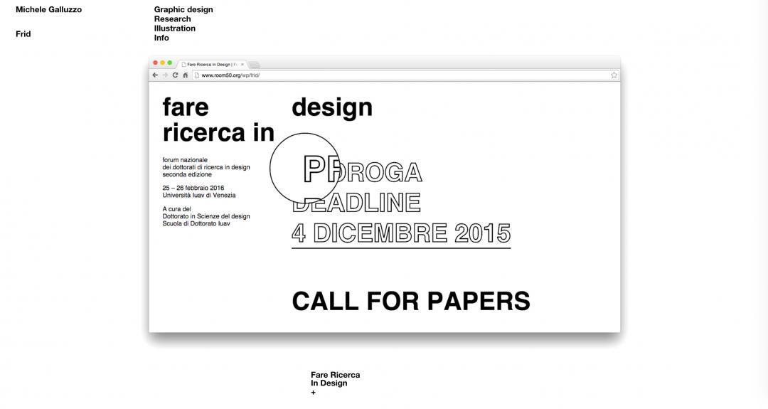 Fare Ricerca in Design, 2016