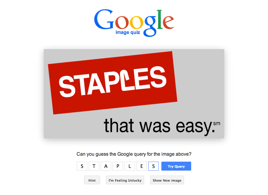 Google Image Quiz, Silvio Lorusso, 2014
