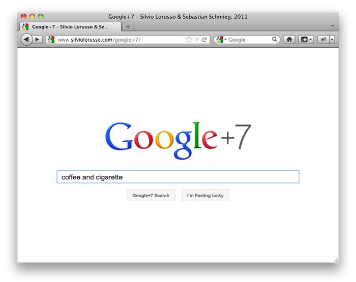 Google+7, Silvio Lorusso and Sebastian Schmieg, 2011