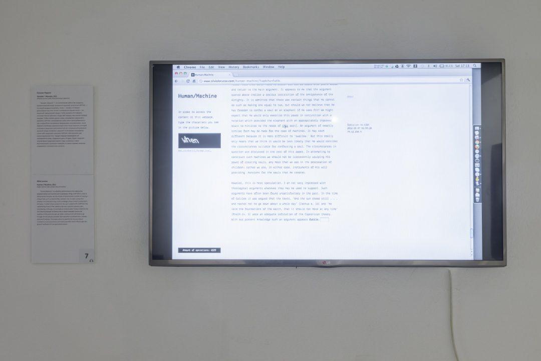 Human/Machine, Silvio Lorusso, 2011