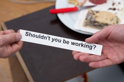 Shouldn't you be working? stickers at Gallery.delivery (Photo: André Wunstorf)