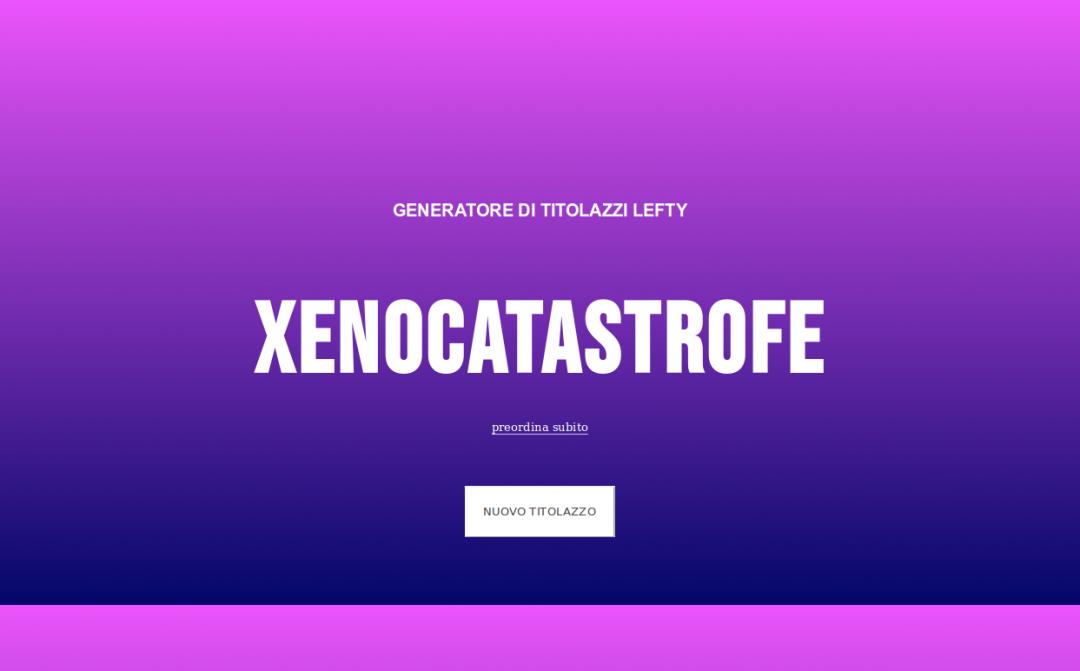 Generatore di titolazzi lefty, Silvio Lorusso, 2019