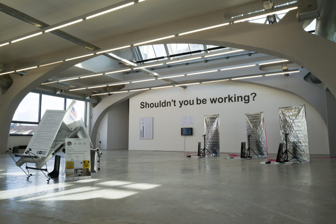 Shouldn't you be working?  at Algotaylorism, curated by Aude Launay